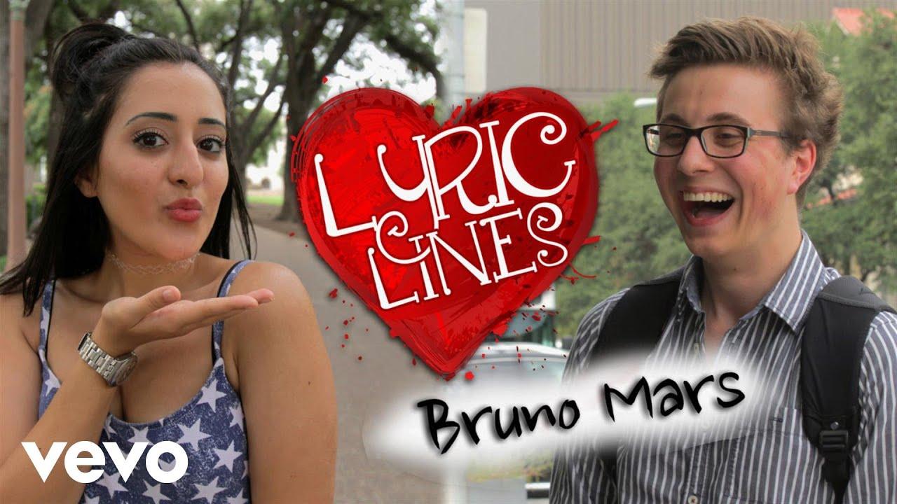 Vevo - Bruno Mars Lyrics Pick Up GUYS? #VevoLyricLines