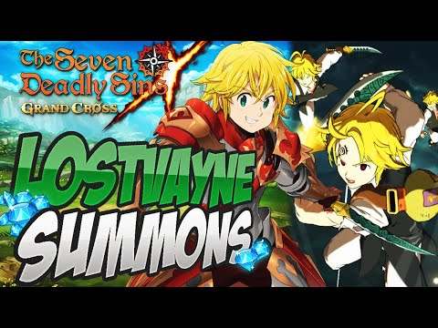 I HAVE THE BEST LUCK IN ALL OF GACHA?! LostVayne Meliodas Summons! Seven Deadly Sins Grand Cross