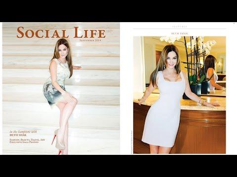 BETH SHAK Poker Pro STAR, Magazine Cover By VITAL AGIBALOW For HENSEL - Social Life Magazine