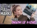 HOW TO GET FULL MARKS IN ENGLISH LIT  A-LEVEL AS AN AVERAGE STUDENT!
