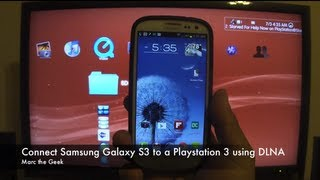 Connect Samsung Galaxy Phones to Playstation 3 using DLNA (Read Update)(UPDATE: This feature also works on Galaxy S4 & Galaxy Note 3. In this video I show how to connect the Samsung Galaxy S3 to the Playstation 3 or any other ..., 2012-07-03T19:12:28.000Z)