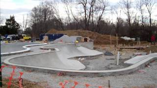 Construction Update #4: Veterans Skatepark 1/2/12 - Woodbridge, Va - Thunderwood
