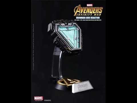 Avengers Iron Man Tony Stark GLOW Arc Reactor Costume Prop Accessory Marvel