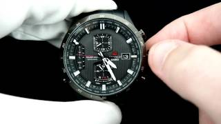 Edifice Casio Atomic Worldtimer Chronograph  EQW-A1110DC