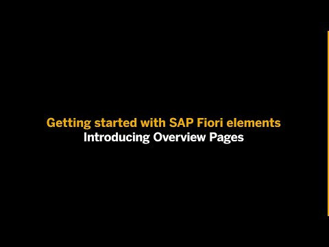 Fiori Youtube Sap.Getting Started With Sap Fiori Elements Introduction Youtube