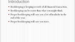 Simple and accurate bookkeeping for small businesses