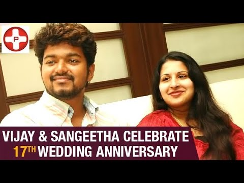 Vijay and Sangeetha Celebrate 17th Wedding Anniversary | Latest Tamil Cinema News | PluzMedia Tamil