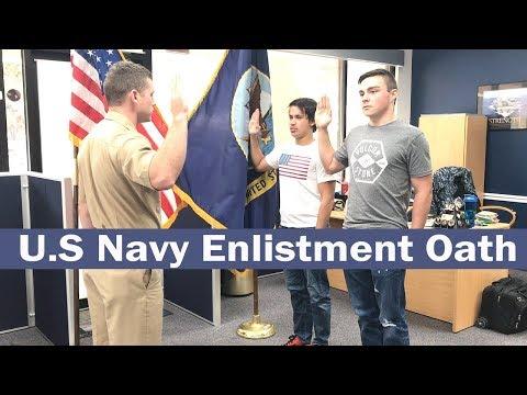 U.S Navy Enlistment Oath - VLOG
