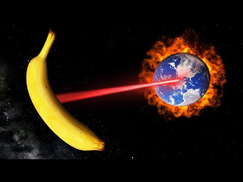 I DESTROYED EARTH WITH A GIANT BANANA. (Universe Sandbox) |