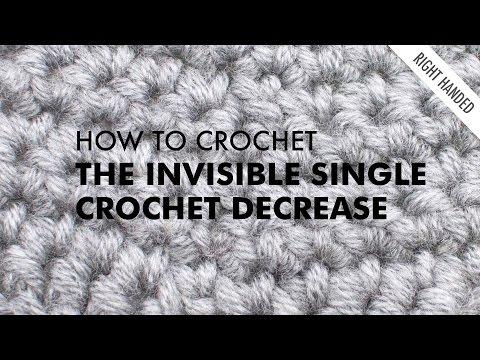 Invisible Single Crochet Decrease :: Crochet Decrease :: Right Handed