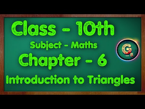 Download Class - 10 Ex - 6 Introduction to Triangle    Part - 1    NCERT CBSE