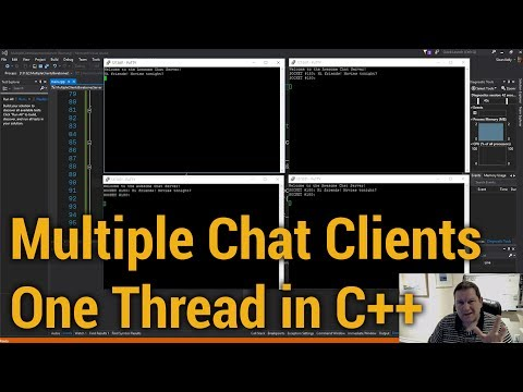Multiple Chat Clients: One Thread (in C++)