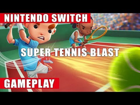 Super Tennis Blast Nintendo Switch Gameplay