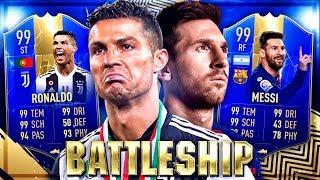 FIFA 19: RONALDO TOTS vs MESSI TOTS Battleship Wager VS Gamerbrother 🔥😱