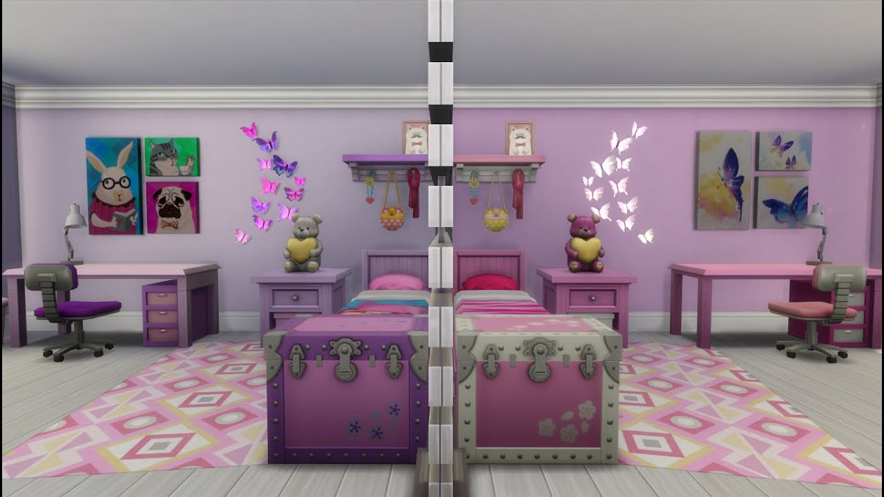 Lovely The Sims 4 Speed Build: Twin Girls Bedroom: Whatu0027s Mine Is Yours   YouTube