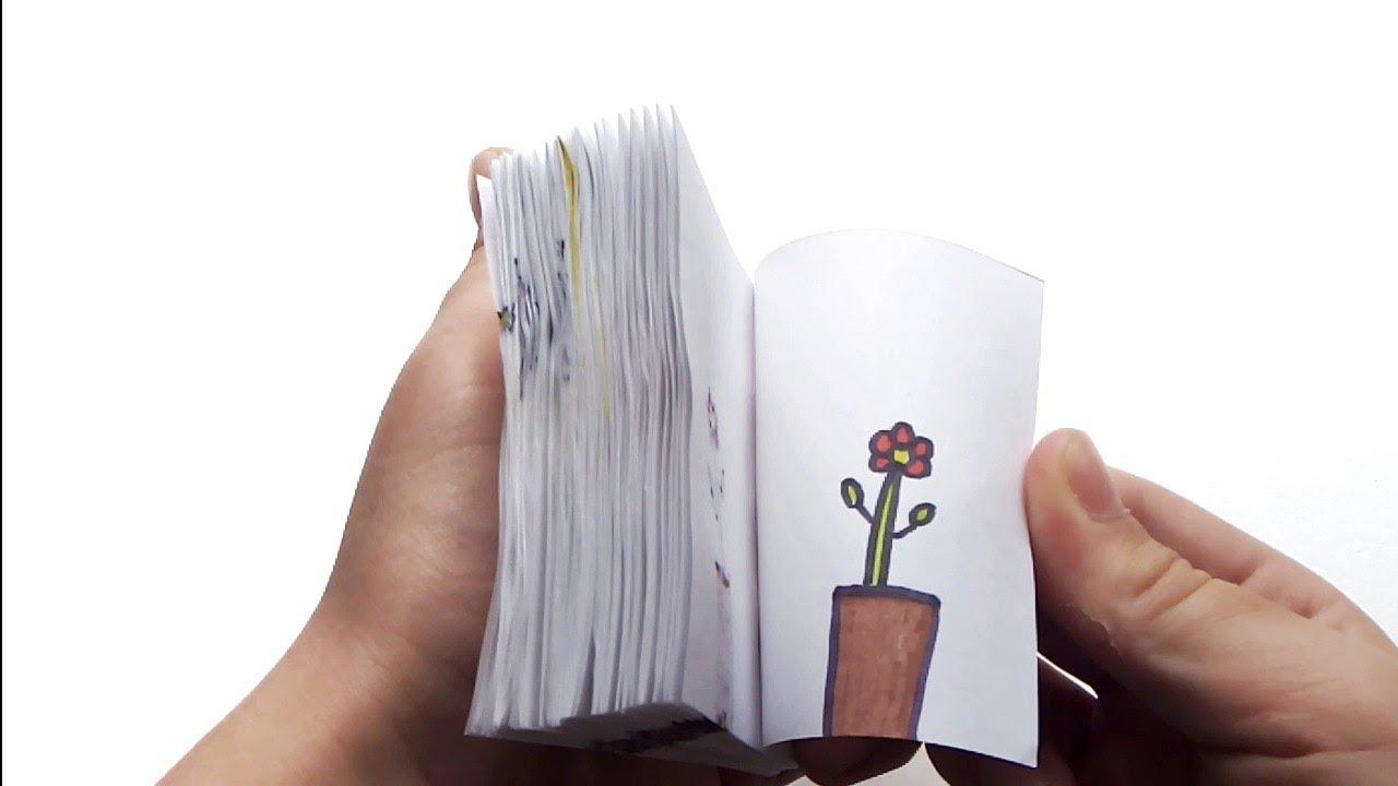 FLIPBOOK Flower ¦ ФЛИПБУК цветок ¦ Как сделать ¦ How to make ¦ мультик