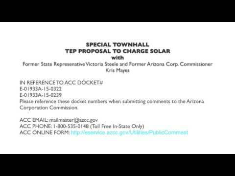 Special Telephone Town Hall on TEP's Anti-solar Proposal