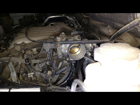 Replace Throttle Position Sensor and Clean Throttle Body. P0123 Code Fix. 2005 Hyundai Santa Fe 2.7L