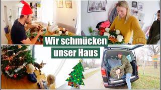 Leona filmt | Weihnachtlich dekorieren 🎄 Tannenbaum holen & schmücken | Isabeau