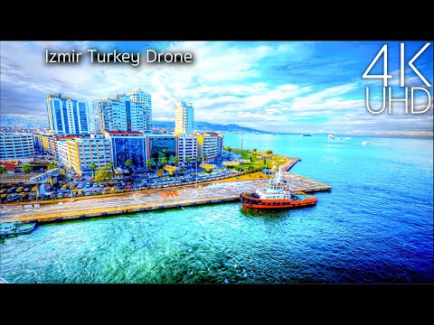 Izmir Turkey in 4K UHD Drone
