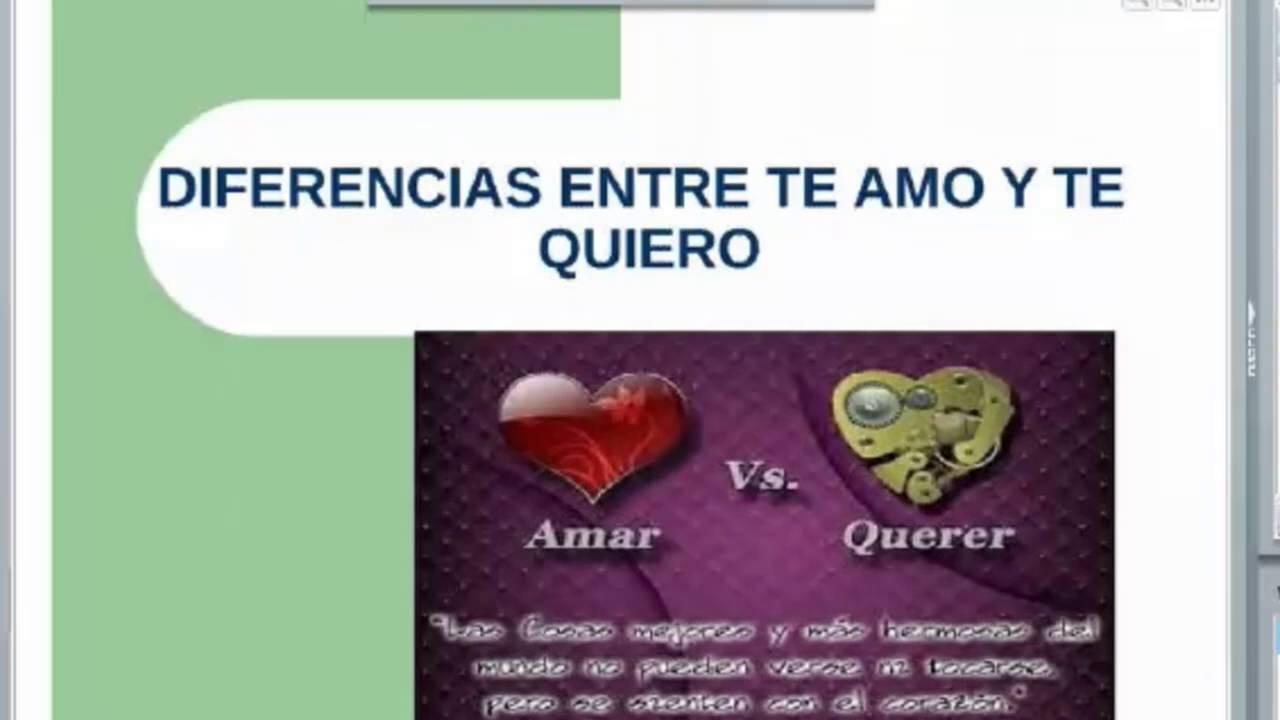 8 Diferencias Entre Te Amo Y Te Quiero Sandra Youtube