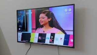 LG TV - LG 43 Inch Smart TV After Setting Review