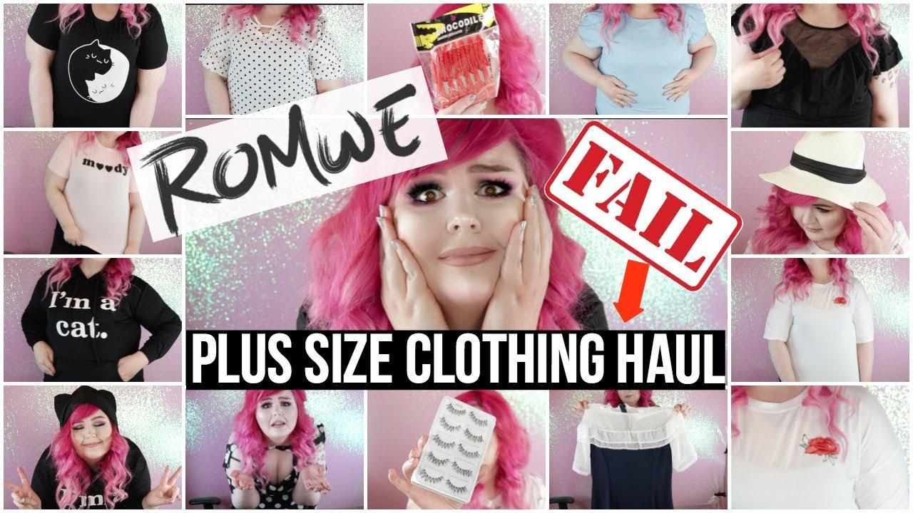 59cf2b6dcca Romwe Plus Size Clothing Try On Haul