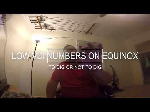 MINELAB EQUINOX 800 NOT DIGGING LOW VDI NUMBERS BEWARE!