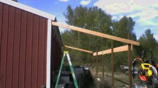 Shed Roof In A Day
