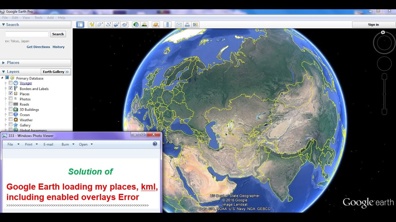 Google Earth loading my places, kml, including enabled overlays Error  [SOLVED]