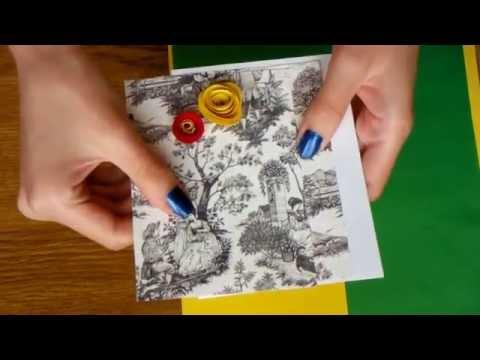 видео: Как сделать открытку за 10 минут (большиииие цветы своими руками :))