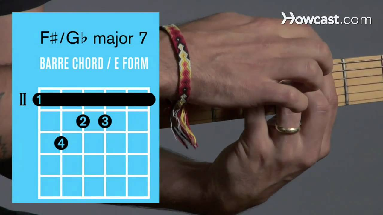 F Major 7 G Major 7 Barre Chord Guitar Lessons Youtube