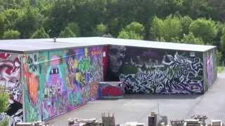 Balade au Luxembourg, le 20 : street art graffiti le dépot We-Ge à Niederkorn Sanem