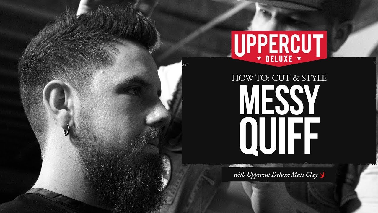 haircut tutorial: how to cut & style a messy quiff x uppercut