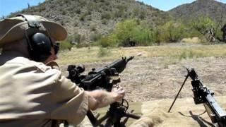 九二式重機関銃の実射 part 2  / JAPANESE TYPE 92 HMG / BANZAI 2011