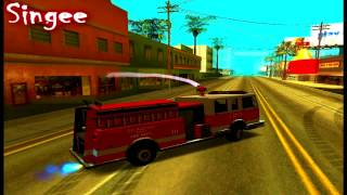 GTA_SA Fire Truck Drift [1080p]