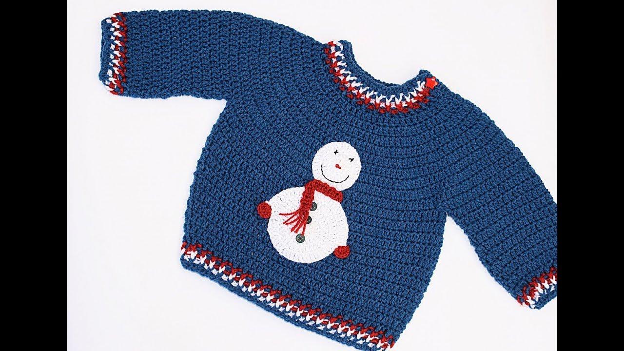 e85369cbc91f Very easy crochet winter sweater very easy - YouTube