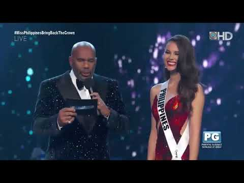 "Here's Catriona Gray's answer to ""What is your opinion on the legalization of marijuana?"""