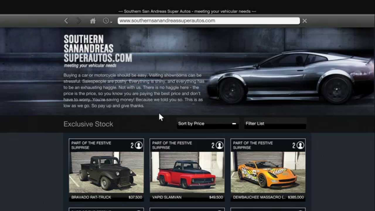 gta 5 san andreas car website