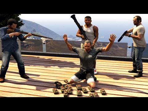 GTA V Franklin,Trevor And Michael Kills Devin Weston