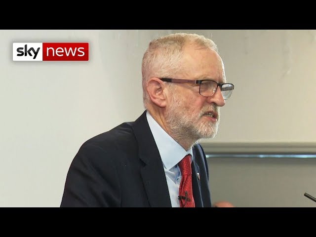 Labour leader Jeremy Corbyn promises to 'get Brexit sorted'