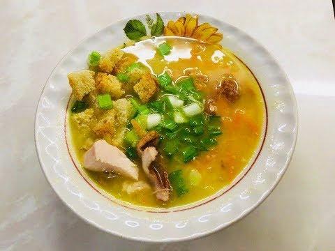Гороховый суп 🍜 с копчёной курицей