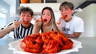 First To Finish SPICY HOT WINGS Wins Cash Prize!
