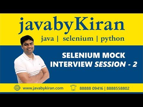 Java Selenium Interview Session-2-By Kiran Sir-JAVA By Kiran,Pune