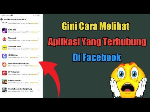 Cara Melihat Aplikasi Yang Terhubung Di Facebook   2021 ...