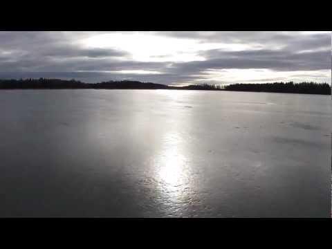 Natural ice skating on Mälaren lake Sweden 2