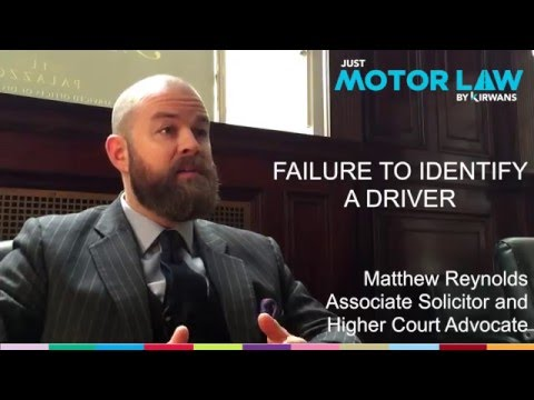 Failing to Identify Driver Penalty -  UK Law