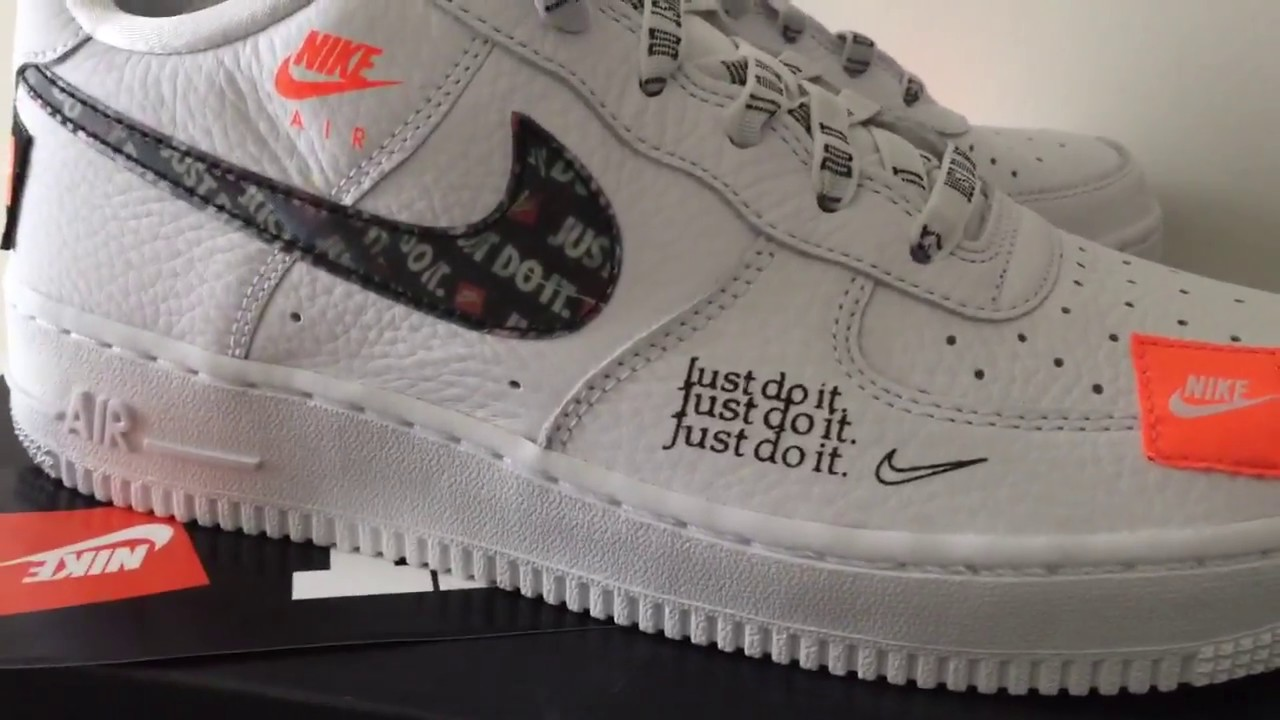 quality design 70db2 f5ed1 A Closer Look At The Nike Air Force 1 JDI Just Do It White ...