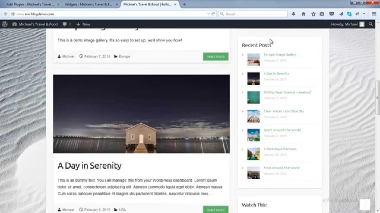 Add Recent Posts Widget with Thumbnail - WordPress