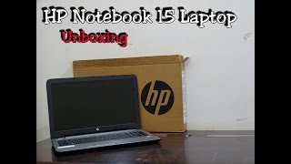 HP Notebook 15-ay019TU Laptop Unboxing